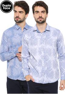 Camisa Reserva Dupla Face Jacquard Azul