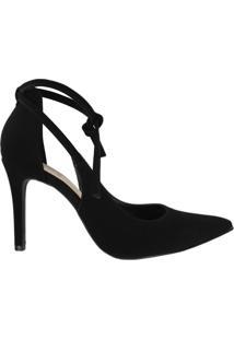Sapato Bebece Scarpin Feminino Nobuck Preto - 38