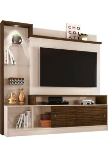 "Estante Para Tv De 55"" Frizz Prime - Madetec - Off White / Savana"
