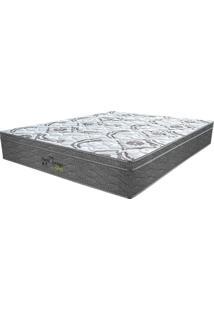 Colchão Queen Pillow Top Prodormir Springs Gray - Probel - Branco / Grafite / Prata
