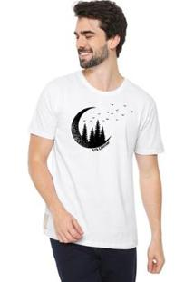 Camiseta Talismã Store Eco Canyon Lua Masculina - Masculino-Branco
