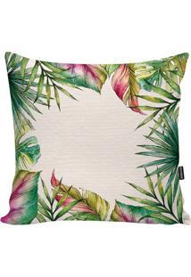 Capa De Almofada Tropical- Nude & Verde- 45X45Cmstm Home
