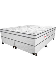 Cama Box King Bleach Euro - Pelmex - Branco / Preto