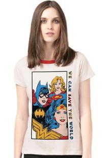 Camiseta Bandup! Wonder Woman We Can Save The World - Feminino-Off White