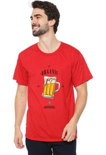 Camiseta Masculina Eco Canyon Beer Vermelho