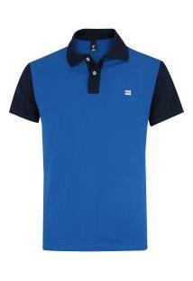 Camisa Polo Fatal Estampada 18061 - Masculina - Azul