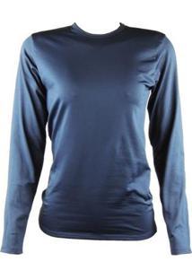 Camisa Térmica Feminina Segunda Pele Thermo Premium - Feminino-Azul+Marinho