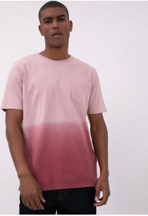 Camiseta Degradê Com Bolso