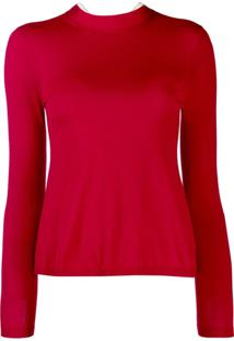Red Valentino Suéter Gola Alta - Vermelho