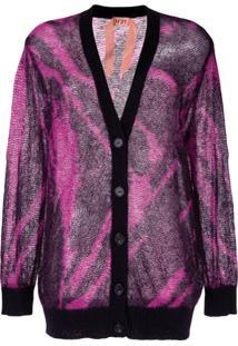 Nº21 Tie-Dye Effect Cardigan - Rosa