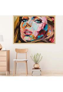 Quadro Love Decor Com Moldura Painting Girl Madeira Clara Grande