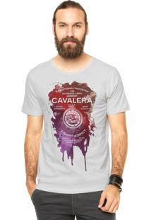 Camiseta Manga Curta Cavalera Mancha Off-White