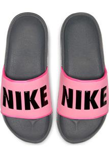 Chinelo Nike Offcourt Slide Feminino - Feminino-Rosa+Preto