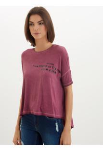 Camiseta John John Heaven Streets Malha Vermelho Feminina (Cinza Escuro, P)