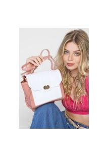 Bolsa Petite Jolie Bicolor Rosa/Branca