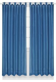 Cortina Santista Londres Lisa 230X280 Azul