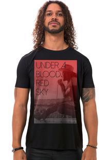 Camiseta Masculina Blood Red Sky Preto B