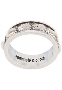 Emanuele Bicocchi Anel Croco - Prateado