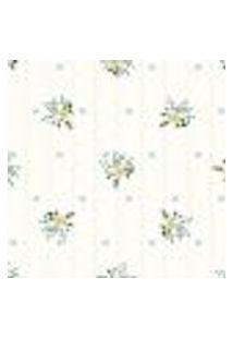 Papel De Parede Adesivo Amarelo Floral 2,70X0,57M