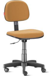 Cadeira Secretária Giratória Crepe Mostarda