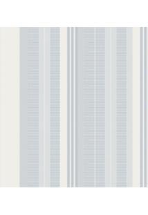 Papel De Parede Listras Azul E Branco (950X52)