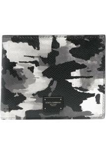 Dolce & Gabbana Carteira Dobrável Com Estampa Camuflada - Preto