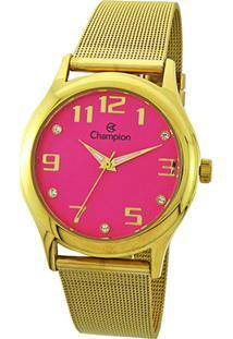Relógio Analógico Champion Cn29007L Feminino - Feminino-Dourado