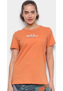 Camiseta Colcci Earth Feminina - Feminino-Laranja+Marrom