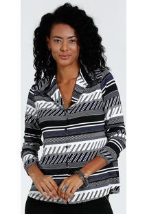 fda41fe9622a9 Camisa Feminina Manga Longa Listrada Liganete Marisa