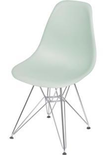 Cadeira Eames Polipropileno Verde Claro Base Cromada - 49317 Sun House