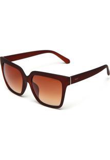 Óculos De Sol Evant Fosco Marrom