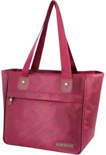 Bolsa Shopper Damasco Jacki Design Essencial Ii Vinho