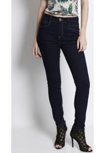 Jeans High Second Skinny - Azul Escuro -Lança Perfumlança Perfume