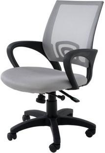 Cadeira Secretaria Santiago Cinza C/Rodizio Em Nylon - 27027 - Sun House
