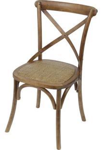 Cadeira Katrina Top Madeira Escura Assento Rattan - 46523 - Sun House