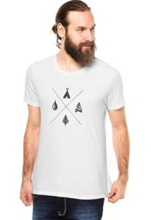 Camiseta Rgx Camping Branca