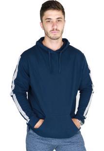 Blusa Bravaa Modas Canguru Com Capuz 034 Azul Marinho