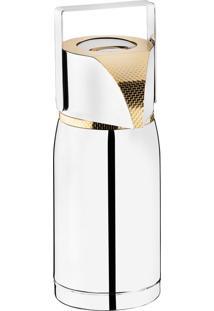 Garrafa Térmica Pump Com Ampola 1,0L Inox Revestido Em Ouro 24K – Riva