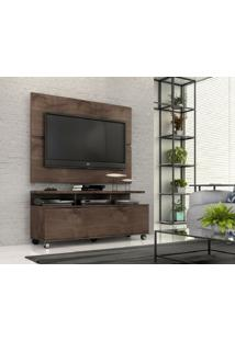 """Rack Com Painel Home Buzios 1,2 M Para Tv 48"""""""" Marrom"""