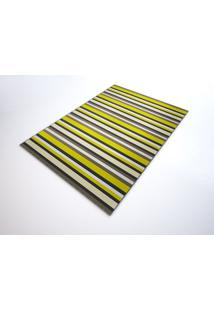 Tapete Saturs Moderno Listrado Amarelo 60 X 200 Cm Tapete Para Sala E Quarto