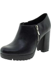 Bota Feminina Ankle Boot Via Marte - 192502 Preto