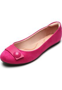 Sapatilha Moleca Aplique Pink