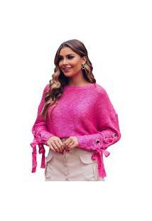 Blusa Zarky Tricot Pink