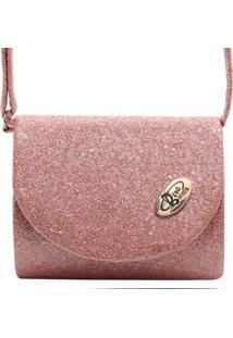 Cinto Birô Cristal Glitter Feminina - Feminino-Pink