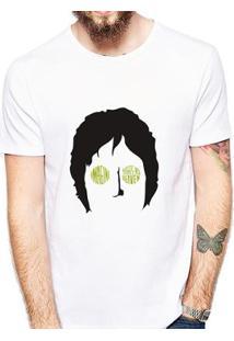 Camiseta Coolest John Lennon Masculina - Masculino-Branco