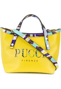 Emilio Pucci Bolsa Com Logo Estampado - Amarelo