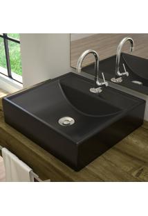 Cuba Para Banheiro Quadrada Preto Fosco Q39 - Compace