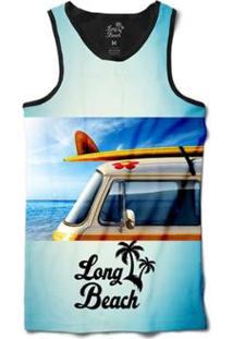 Regata Long Beach Kombi Sublimada Masculina - Masculino-Azul
