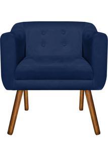 Poltrona Decorativa Julia Suede Azul Marinho - D'Rossi - Azul Marinho - Dafiti