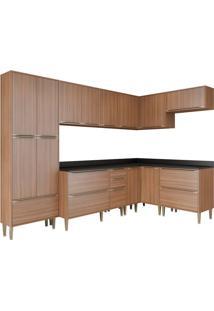 Cozinha Compacta Multimoveis Calábria 5462 Nogueira Se